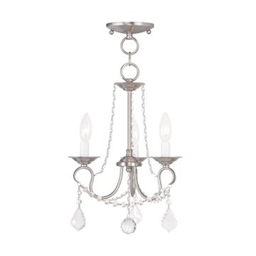 Livex Lighting Pennington 3 Light Convertible Chain/Chandelier Light