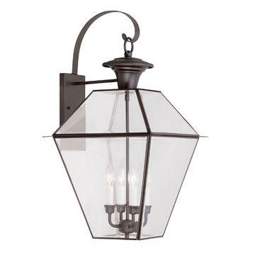 Livex Lighting Westover Outdoor 4 Light Wall Lantern