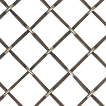 Kent Design 332P 3/4 Round Press Crimp Wire Grille - 18 x 24 ANTIQUE BRASS