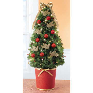 Grand Dove Decorated Spruce Tree