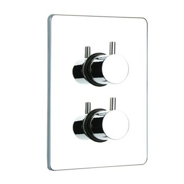 Whitehaus Luxe Square Thermostatic Shower Valve - Short Lever Handles