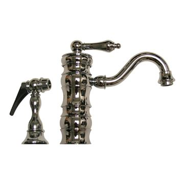 Whitehaus Vintage III Single Lever Bar Prep Faucet With Sprayer