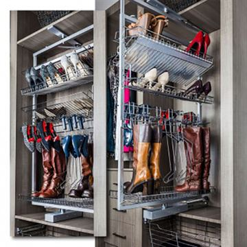 Restorers 61 Inch Rotating Shoe & Boot Rack For Closet System