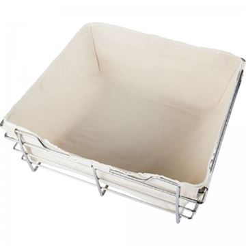 "Restorers Tan Canvas Basket Liner for 18"" x 16"" Wire Basket"