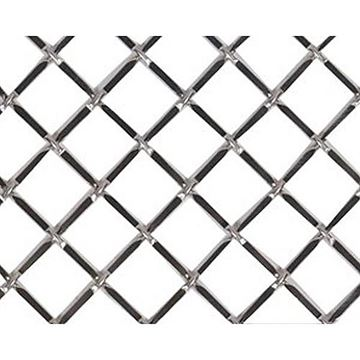 Kent Design 332p 3/4 Round Press Crimp Wire Grille - 18 X 48-Bright Nickel *DS*