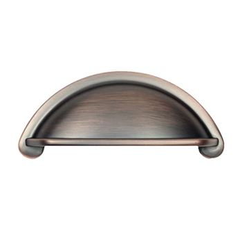 Century Hardware Lisbon Rounded Die Cast Cup Pull - 3 Inch