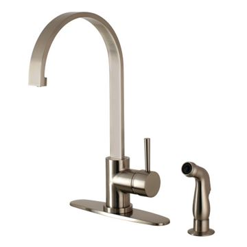 Gourmetier Concord Single Lever Kitchen Faucet & Sprayer