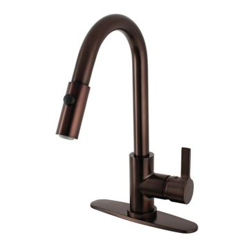 Gourmetier Continental Single Handle Pull Down Kitchen Faucet