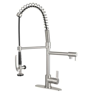 Gourmetier Continental Single Lever Pre-Rinse Kitchen Faucet