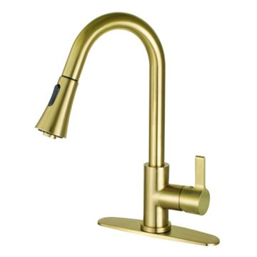 Gourmetier Continental Single Lever Pull Down Kitchen Faucet