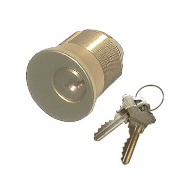 Brass Accents 1 1/4 Inch Mortise Lock Cylinder