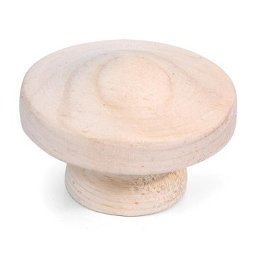 Unfinished Premium 1 3/4 Face Grain Wooden Knob