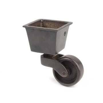 Restorers Solid Brass Square Cup Caster - 1 7/16 Inch Wheel