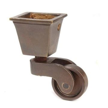 Restorers Square Cup Caster - 1 1/4 Inch Wheel