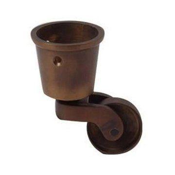 Restorers Solid Brass Round Cup Caster - 3/4 Inch Wheel