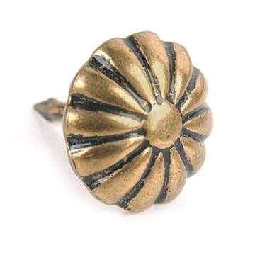 ANTIQUE BRASS ROSETTE TACK
