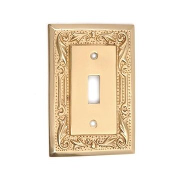 Floral Single Switch Plate