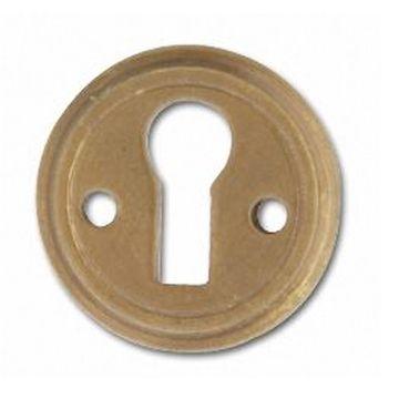 Restorers Solid Brass Victorian Keyhole Escutcheon
