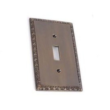 POLISHED EGG & DART SINGLE SWITCHPLATE