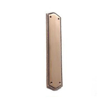 Brass Accents Push Plate With Rope Backplate