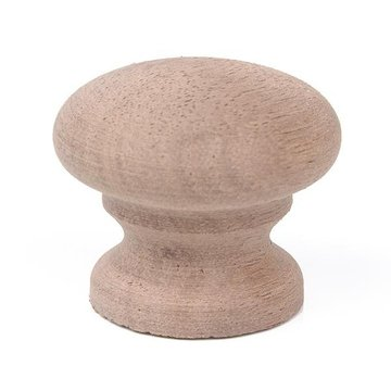Unfinished Premium 1 1/8 Face Grain Wooden Knob
