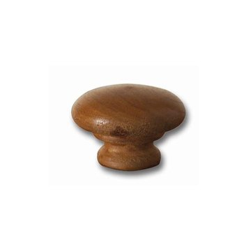 Unfinished 1 1/2 Inch Face Grain Round Wooden Knob