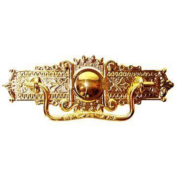 Restorers Classic Stamped Brass Eastlake Bail Pull