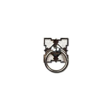 Restorers Classic Eastlake 1 1/2 Inch Ring Pull with Decorative Plate