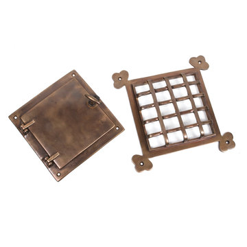 Restorers 8 1/2 x 8 1/2 Speakeasy Grille And Grate