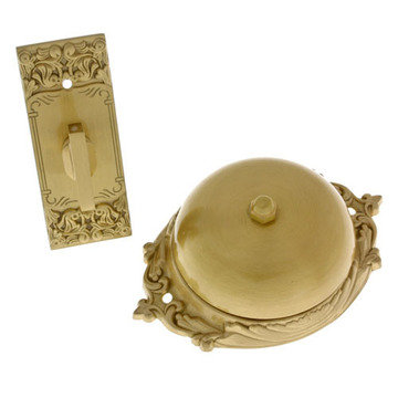 VICTORIAN TWIST DOORBELL WITH PLAIN DOME