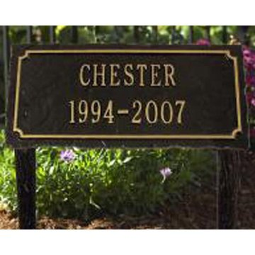 PET MEMORIAL MARKER WITH LAWN STAKES