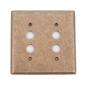 Classic Accents Double Pushbutton Switchplate