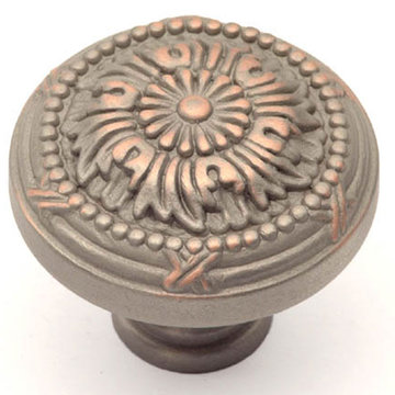 Classic Brass St George Collection Knob - 1 1/4 Inch Diameter