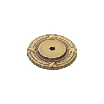 Classic Brass St George Collection Backplate - 1 3/4 Inch Diameter