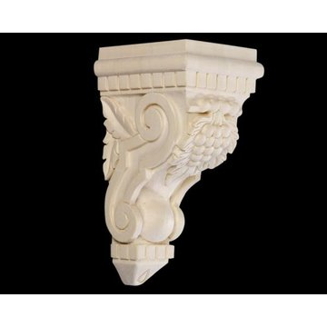 10 1/2 GRAPE & DENTIL CORBEL