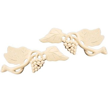 8 1/4 GRAPE APPLIQUE PAIR