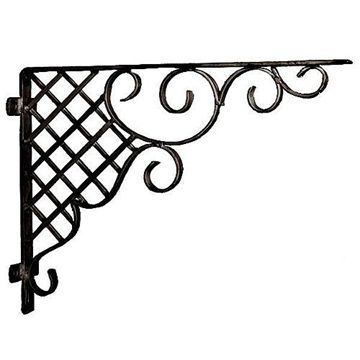 Restorers 19 Inch Decorative Wrought Iron Shelf Bracket