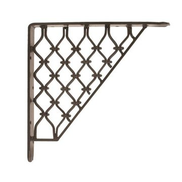 Restorers 10 1/2 Inch Diamond Design Wrought Iron Bracket