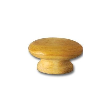 Unfinished Premium 2 1/2 Face Grain Wooden Knob