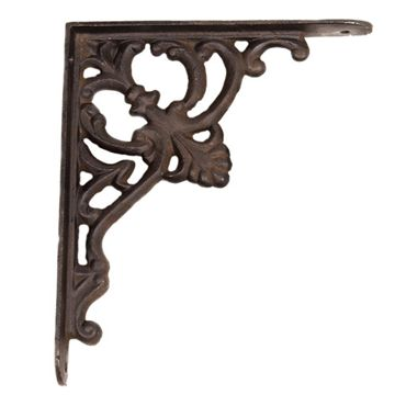 Restorers Iron Shelf Bracket with Fleur-de-Lis
