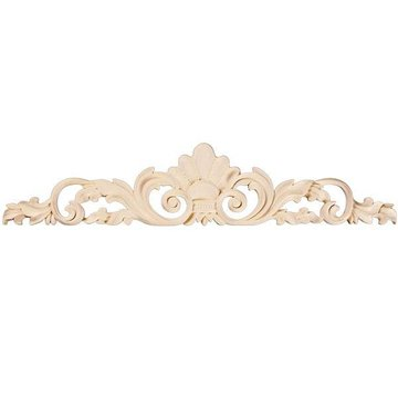 "Legacy 36"" Shell & Leaf Carved Applique"
