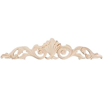 Shell & Leaf Carved Applique – 24 Inch