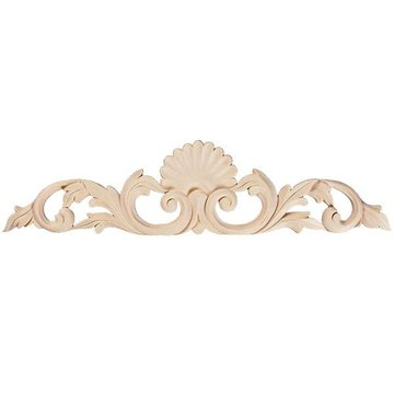 "Legacy Signature 12"" Shell & Leaf Hand Carved Applique"