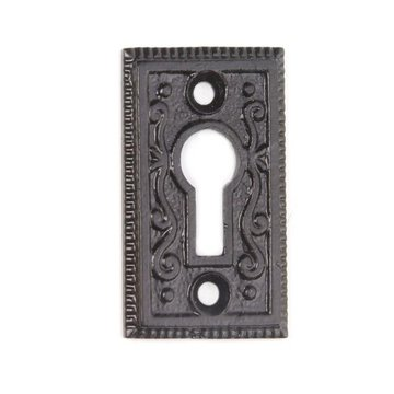 Restorers Iron Ornate Keyhole Escutcheon