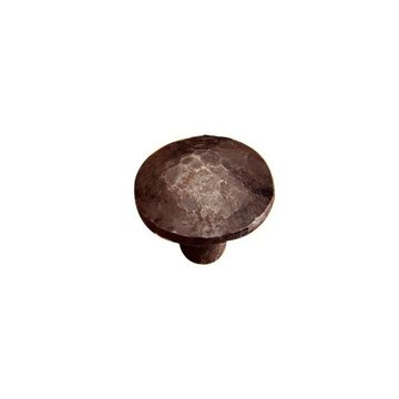 HAND FORGDED IRON ROUND KNOB - 1 DIAM
