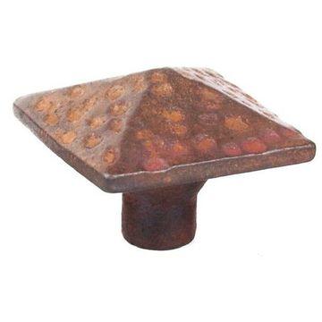 Restorers Hand Forged Iron Pyramid Knob - 1 1/2 Inch Diameter