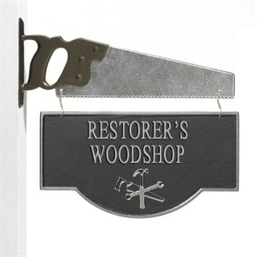 WORKSHOP PERSONALIZED PLAQUE WITH SAW BRACKET