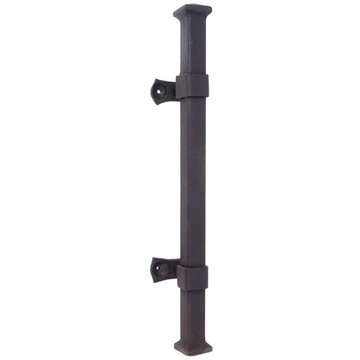 Gate Pulls Rustic Pull Handles Barn Hardware For. Black Wrought Iron Door  ...