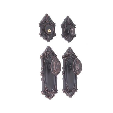 GRAND VICTORIAN DOUBLE EGG KNOB ENTRY SET