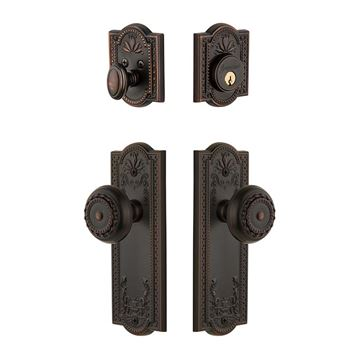 PARTHENON DOUBLE ROUND KNOB ENTRY SET